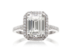 The Signature Emerald Lab-Grown Diamond Ring | White Gold Platinum