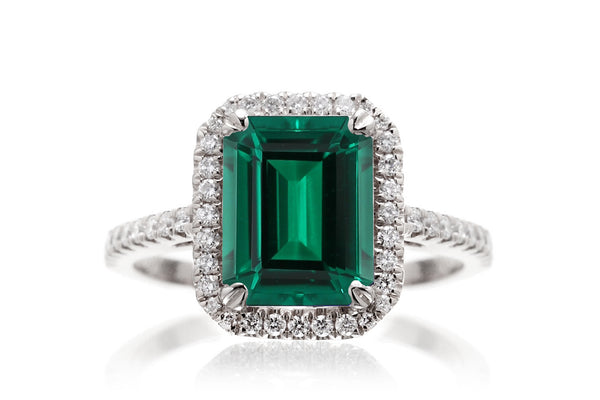 The Signature Emerald Cut Lab Grown Green Emerald