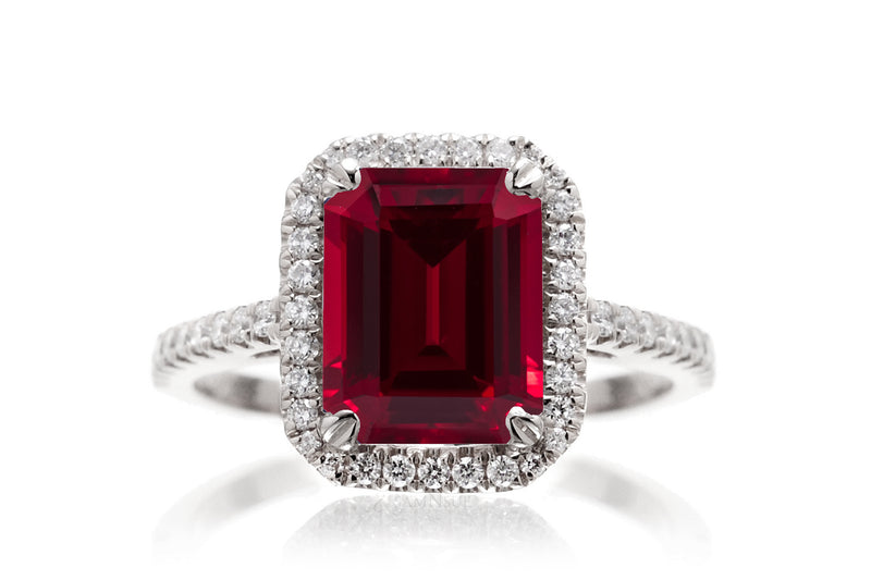 The Signature Emerald Cut Chatham Ruby