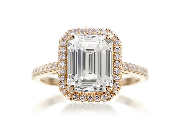 The Signature Emerald Lab-Grown Diamond Ring | Yellow Gold