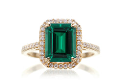 The Signature Emerald Cut Chatham Green Emerald