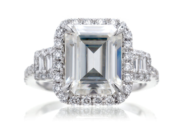 The Cali Emerald Moissanite