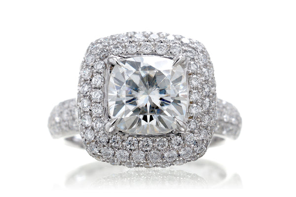The Margot Cushion Moissanite (7x7)