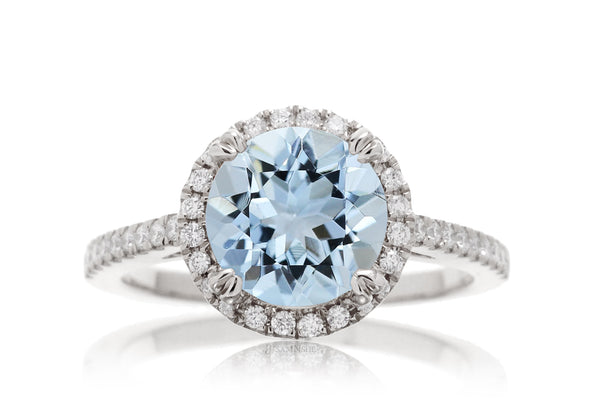 The Signature Round Aquamarine
