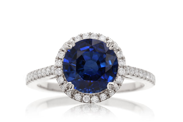 The Signature Round Chatham Blue Sapphire