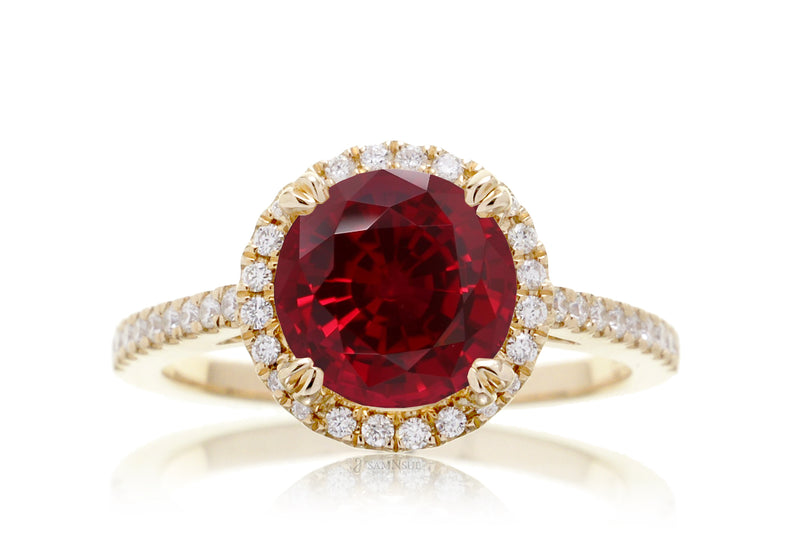 The Signature Round Lab-Grown Ruby