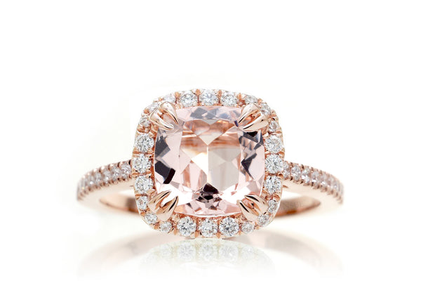 The Signature Square Cushion Morganite