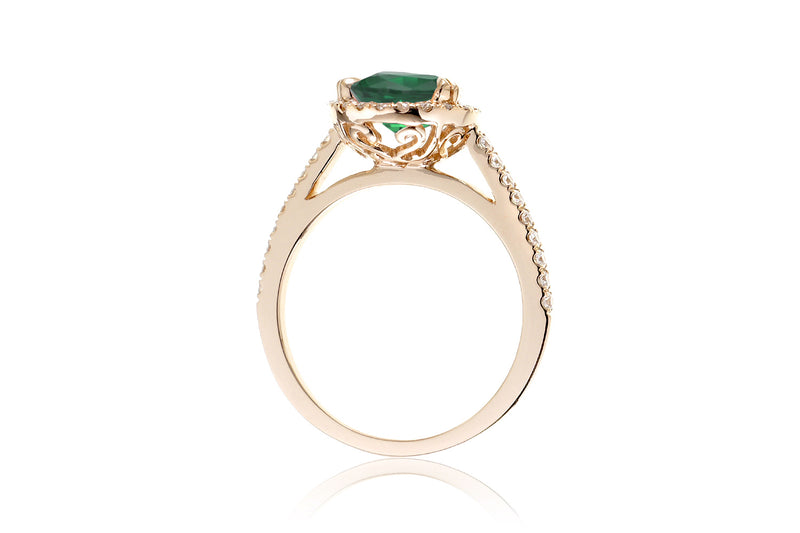 The Signature Pear Lab-Grown Green Emerald