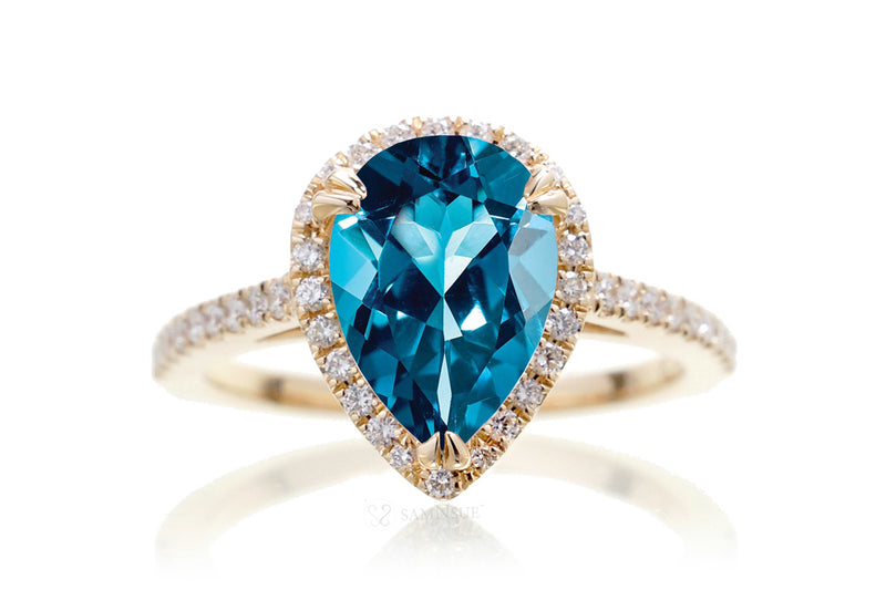 The Signature Pear London Blue Topaz