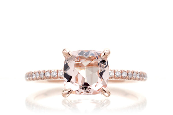 The Ava Cushion Morganite