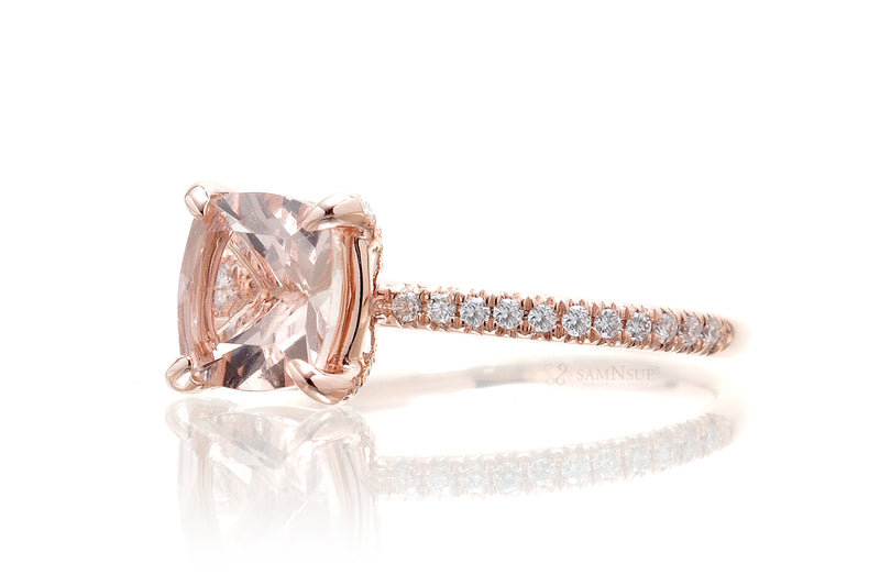 The Ava Long Cushion Morganite