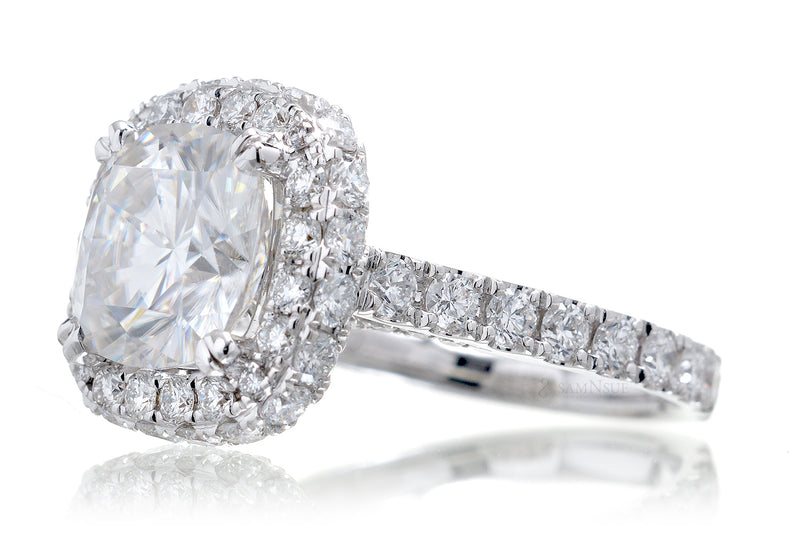 The Celestine Cushion Moissanite