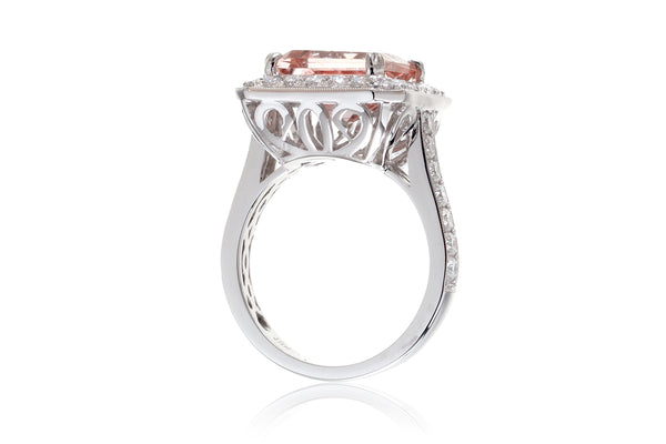 The Sophia Asscher Morganite (9.5x9.5)