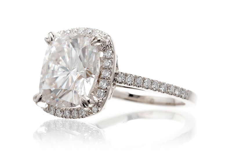 The Signature Cushion Moissanite
