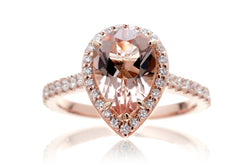 The Sunset Pear Morganite