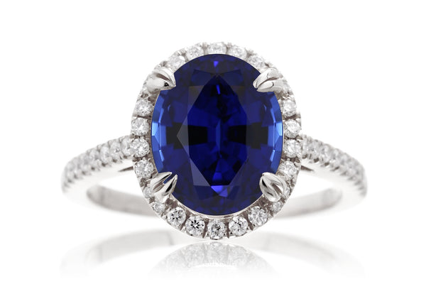 The Signature Oval Chatham Blue Sapphire