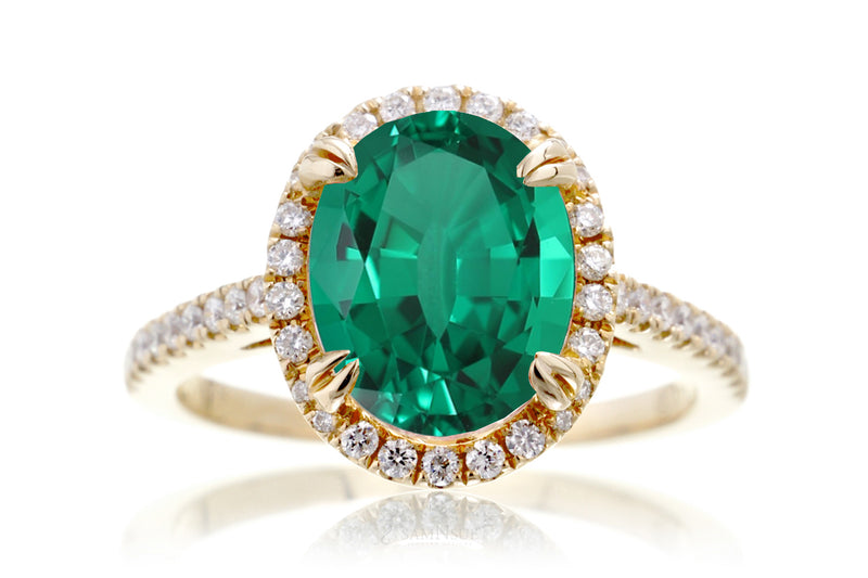 The Signature Oval Chatham Emerald