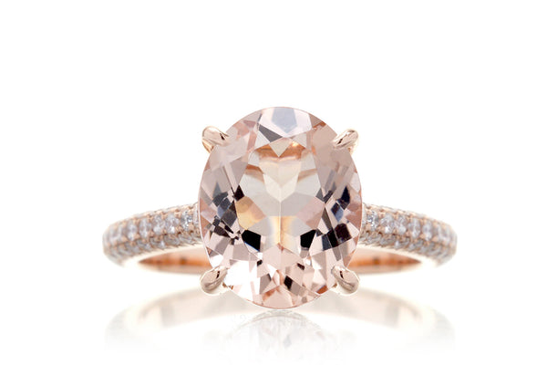 The Starlight Oval Morganite