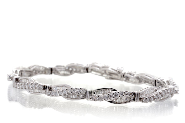 The Baguette Bypass Diamond Tennis Bracelet (4.00 ct. tw.)
