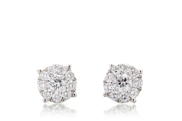 The Round Diamond Cluster Studs (5.8mm)