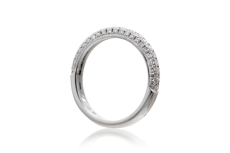 The Leila Three-Sided Diamond Band
