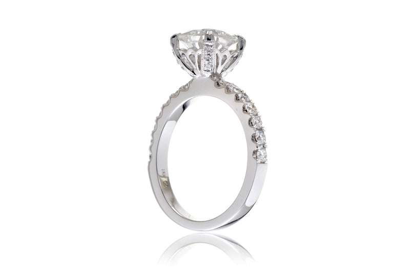 The Leila Oval Moissanite