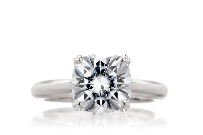 The Leila Cushion Moissanite