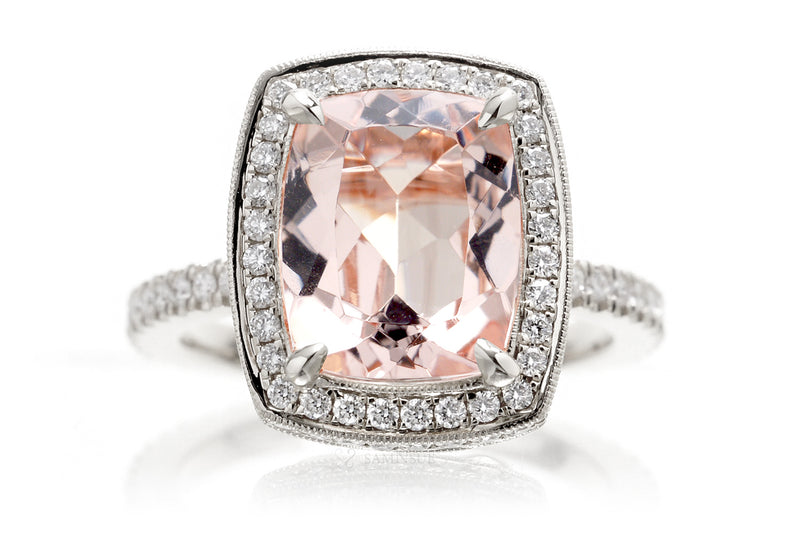 The Camila Cushion Morganite