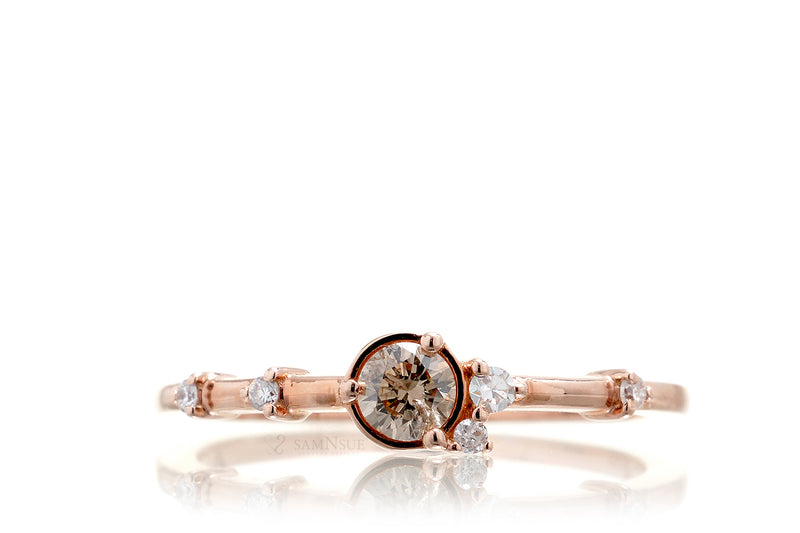 The Pluto Diamond Ring (cognac)