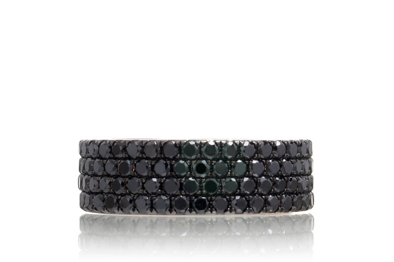The Black Diamond Eternity Band (4 rows - 8mm)