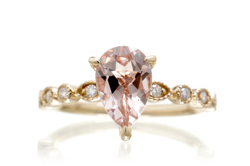 The Ivy Pear Morganite