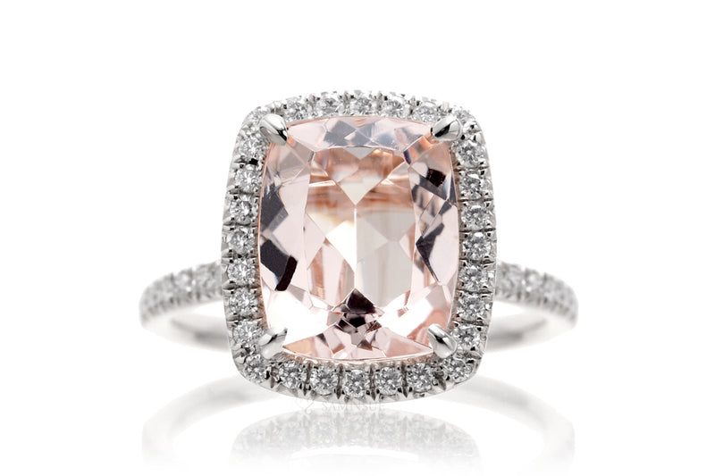 The Caitlin Cushion Morganite