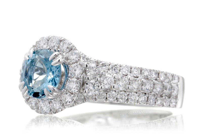 The Isabella Round Aquamarine