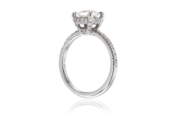 The Ava Cushion Moissanite (6x6)