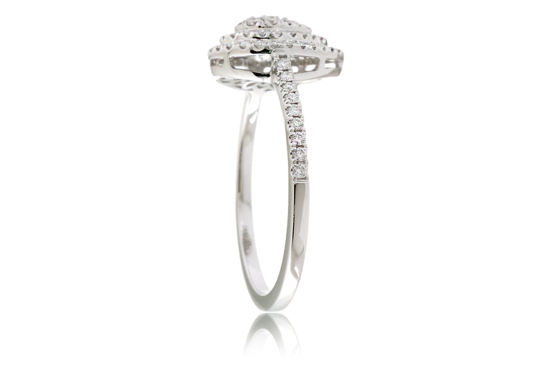 The Peony Pear Diamond Ring
