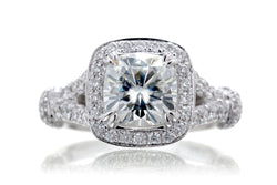 The Marissa Cushion Moissanite (7x7)