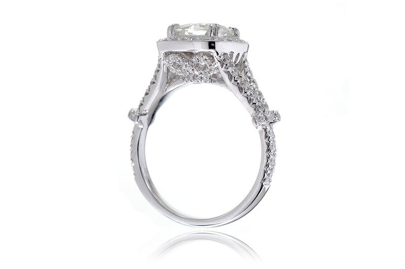 The Marissa Cushion Moissanite