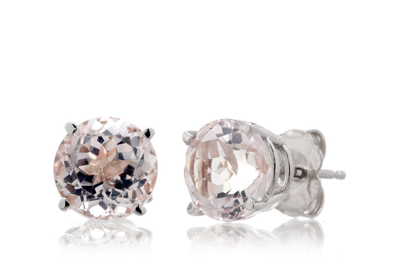 Morganite Studs Four-Prong