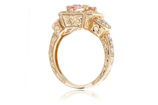 The Louise Cushion Morganite