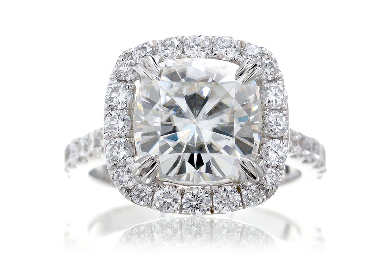 The Aurora Cushion Moissanite