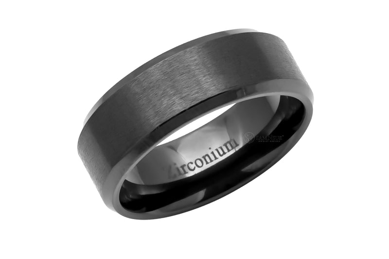 The Beveled Zirconium Band