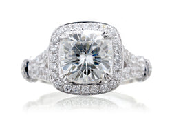 The Marissa Cushion Moissanite (8x8)