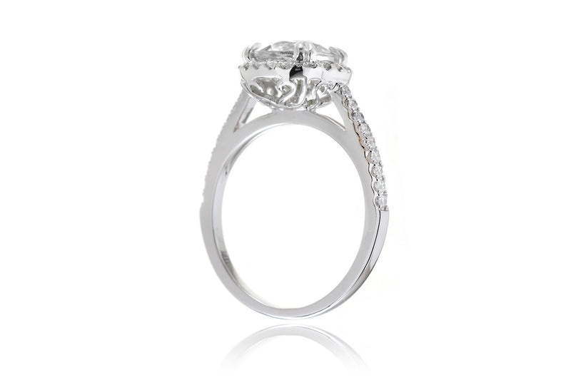 The Signature Round Moissanite