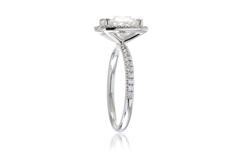 The Caitlin Square Cushion Moissanite