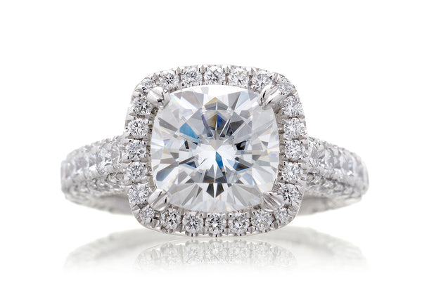 The Tamara Cushion Moissanite