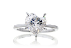 The Adeline Heart Moissanite (8x8)