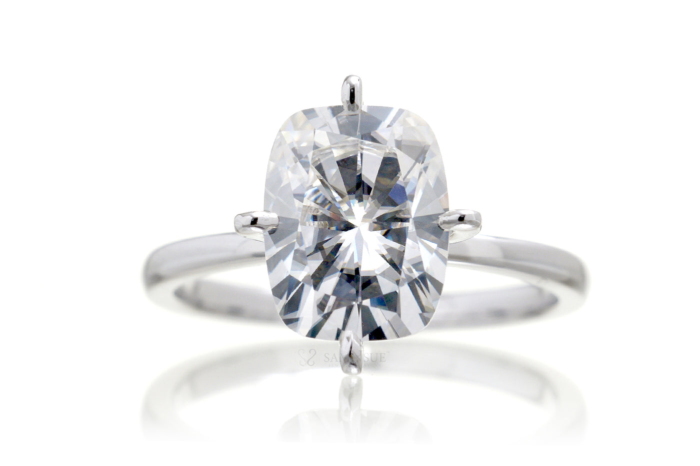 Adeline - Cushion Moissanite Ring