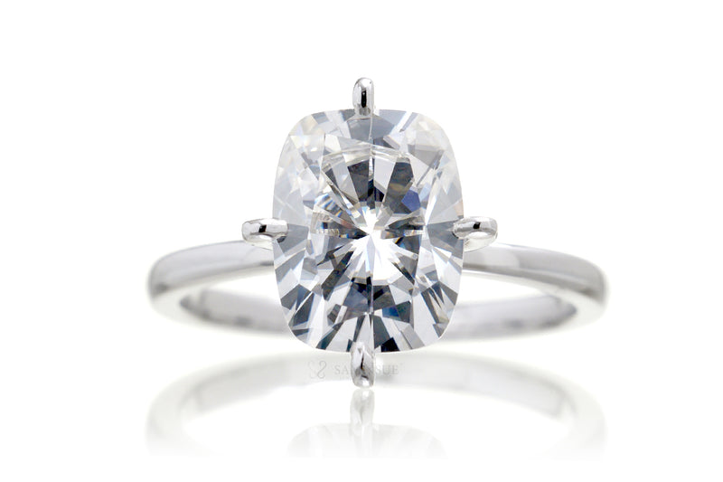 The Adeline Cushion Moissanite