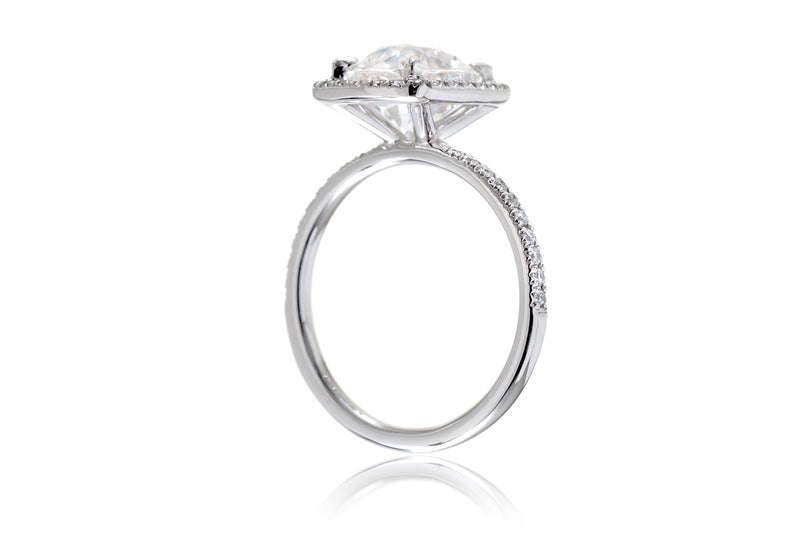 The Caitlin Cushion Moissanite