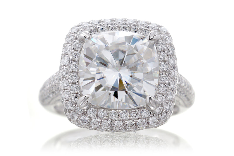 The Pamela Cushion Moissanite